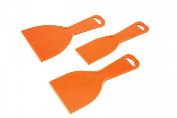 Kunststoffspachtel-Set – 3-teilig – Blattbreite: 50, 75 und 100 mm