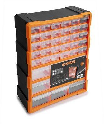 KENDO Kleinteilemagazin | 475 x 380 x 160 mm | Sortierkasten aus Kunststoff | transparente Fächer